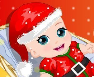 Vestir bebê no Natal