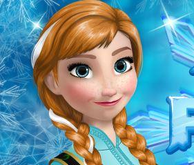 Vestir roupas Anna Frozen