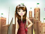 Vestir roupas da princesa no castelo